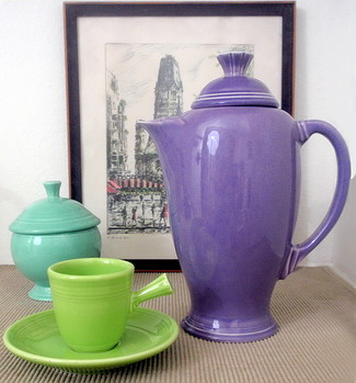 Lilac Fiestaware Coffee Server snapshot