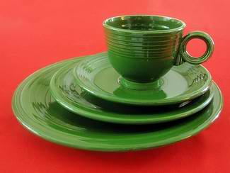 Vintage Forest Green Fiesta & Vintage Forest Green Fiesta Dinnerware from Homer Laughlin