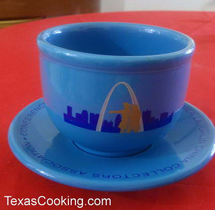 Special HLCCA Peacock Blue Jumbo Cup and Saucer