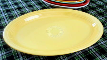 Sunflower Yellow Oval Platter