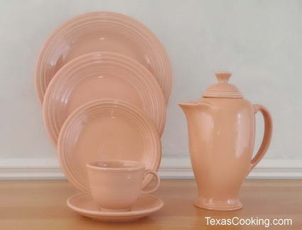 Apricot Fiestaware Dinnerware From Homer Laughlin