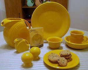 Marigold Fiestaware from Homer Laughlin