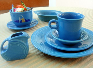 Peacock Blue Fiestaware from Homer Laughlin
