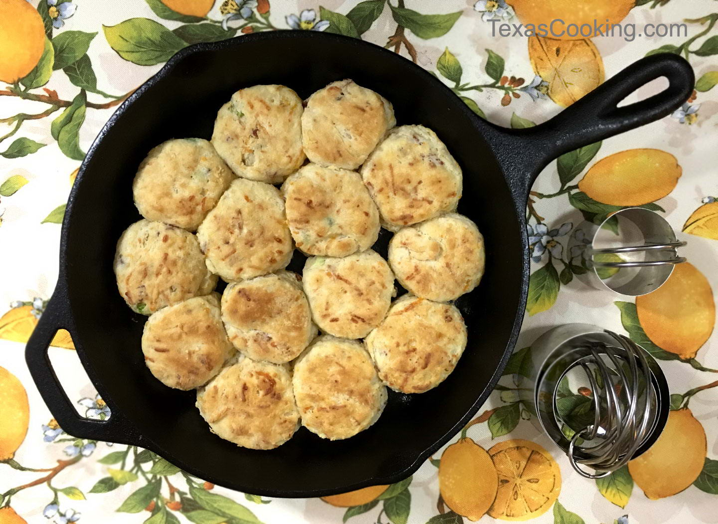 Bacon Onion Cheese Biscuits Recipe