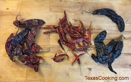 Dried Chiles: Guajillo, Arbol, Pasilla