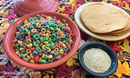 Froot Loops Dressing served with fresh tortillas