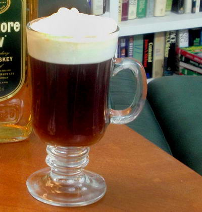 Filled Irish Coffee Mug