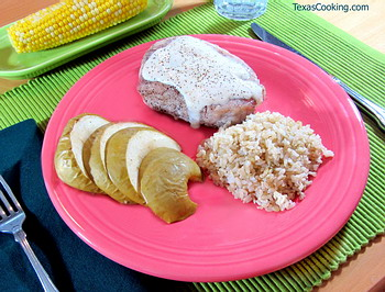 Pork Chops Baked with Apples