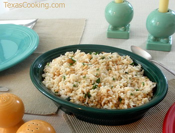 Rice with Garlic and Pine Nuts