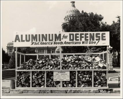 Aluminum for Defense collection point outside of the Texas Capitol building.