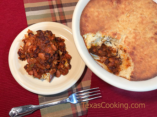 Bean and Cornbread Casserole