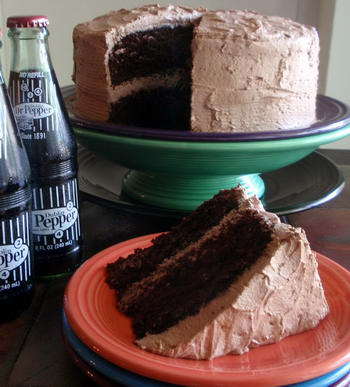 Dr. Pepper Chocolate Cake