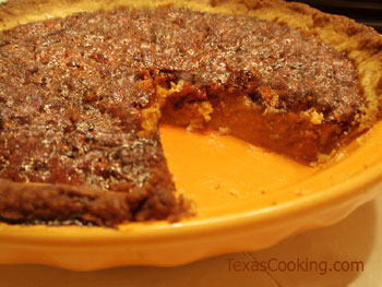 Pumpkin Pecan Pie