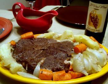 Pot Roast with Vegetables and Gravy
