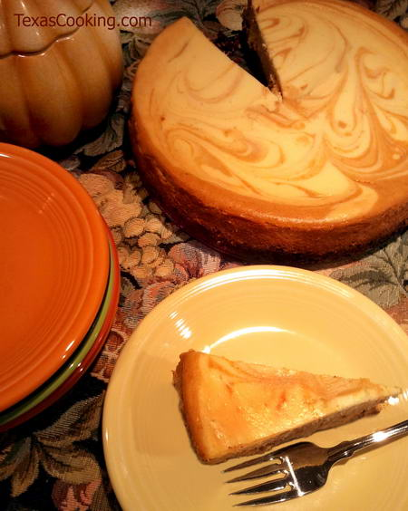Pumpkin Marble Cheesecake