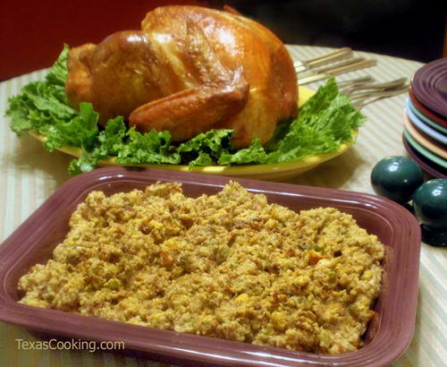 Cornbread Dressing and Giblet Gravy