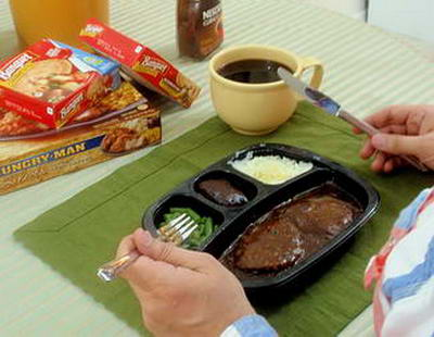 TV Dinner and Coffee