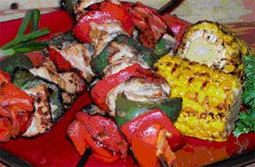 Grilled Dijon-Chicken Kabobs